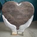 Gravsten hjärta PG SW 150