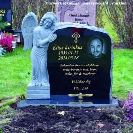 Gravsten Ängel PG A2 ( gravsten på kungsängens kyrkogård stockholm )