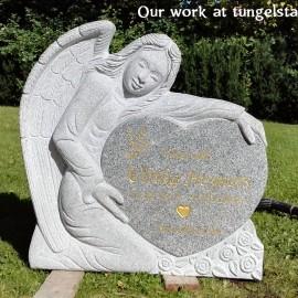 Gravsten Ängel PG A10 small  (gravsten på tungelsta kyrkogården)