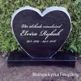 Gravsten Hjärta 201 s ( gravstenar norrköping )