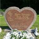 Gravsten Hjärta 134
